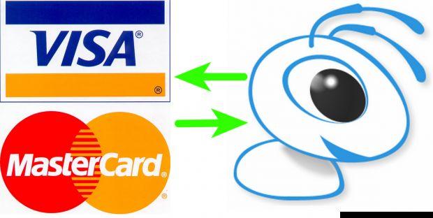 Быстрый ввод webmoney с visa