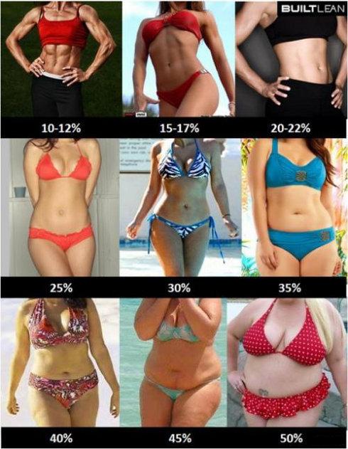 Как определить процент жира в организме?