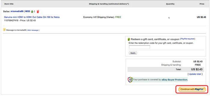 Как покупать на ebay с помощью paypal?
