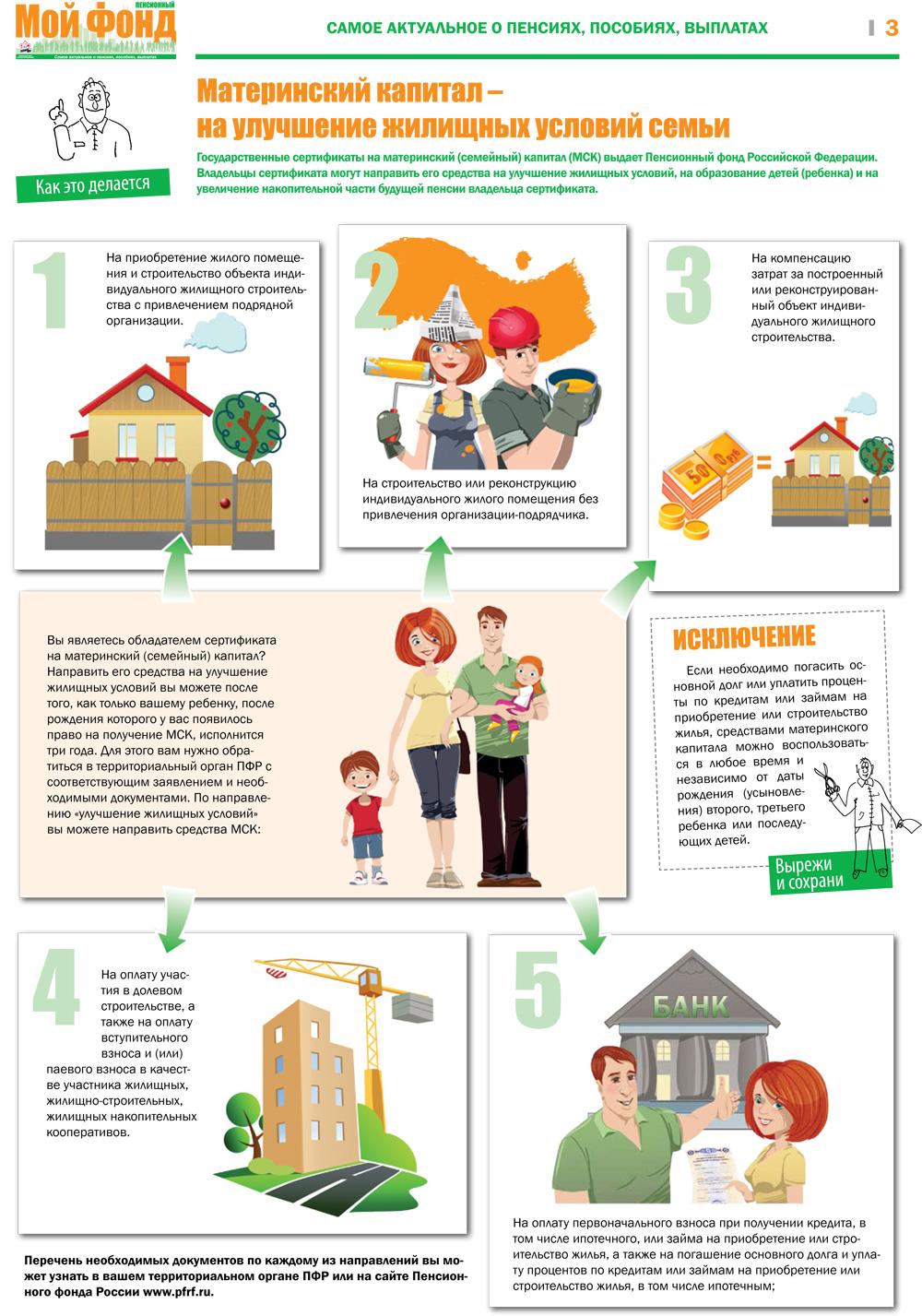 Как получить материнский капитал и потратить на улучшение жилищных условий в 2015 году