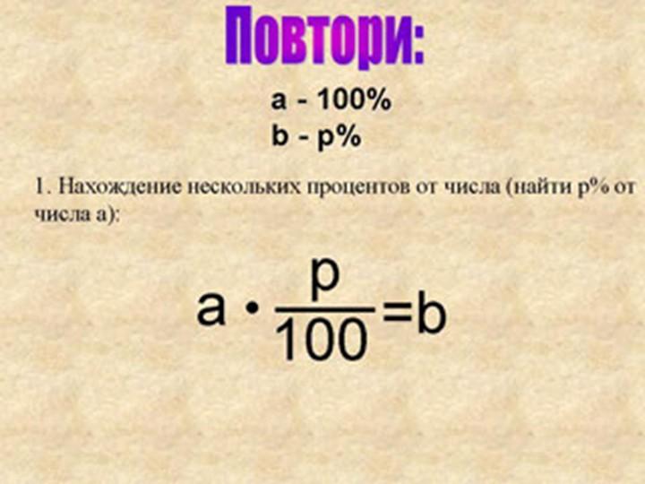 Как посчитать процент от общего числа