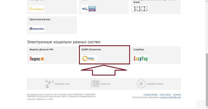 Как выполнить перевод с вебмани на изипей