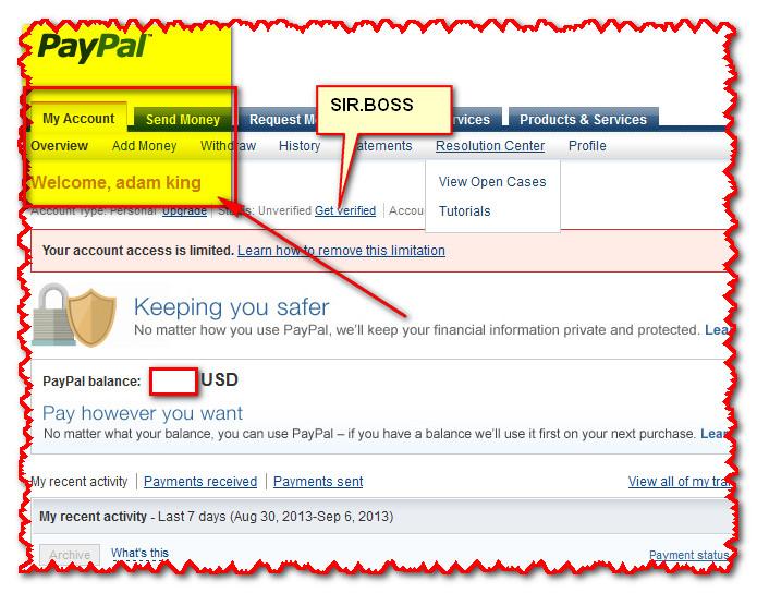 Регистрация paypal (пейпал) аккаунта