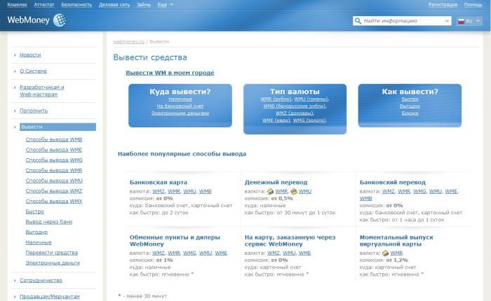 Webmoney где можно снять деньги?